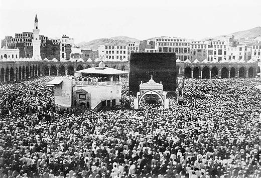 الحرم المكي في العصر العثماني في موسم حج 1328هـ 1910م