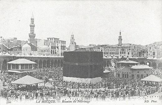 الحرم المكي في العهد العثماني عام 1910